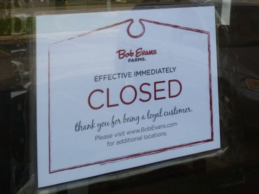 Bob Evans closing 27 under-performing locations