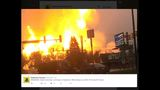 Gas well explosion east of Pittsburgh