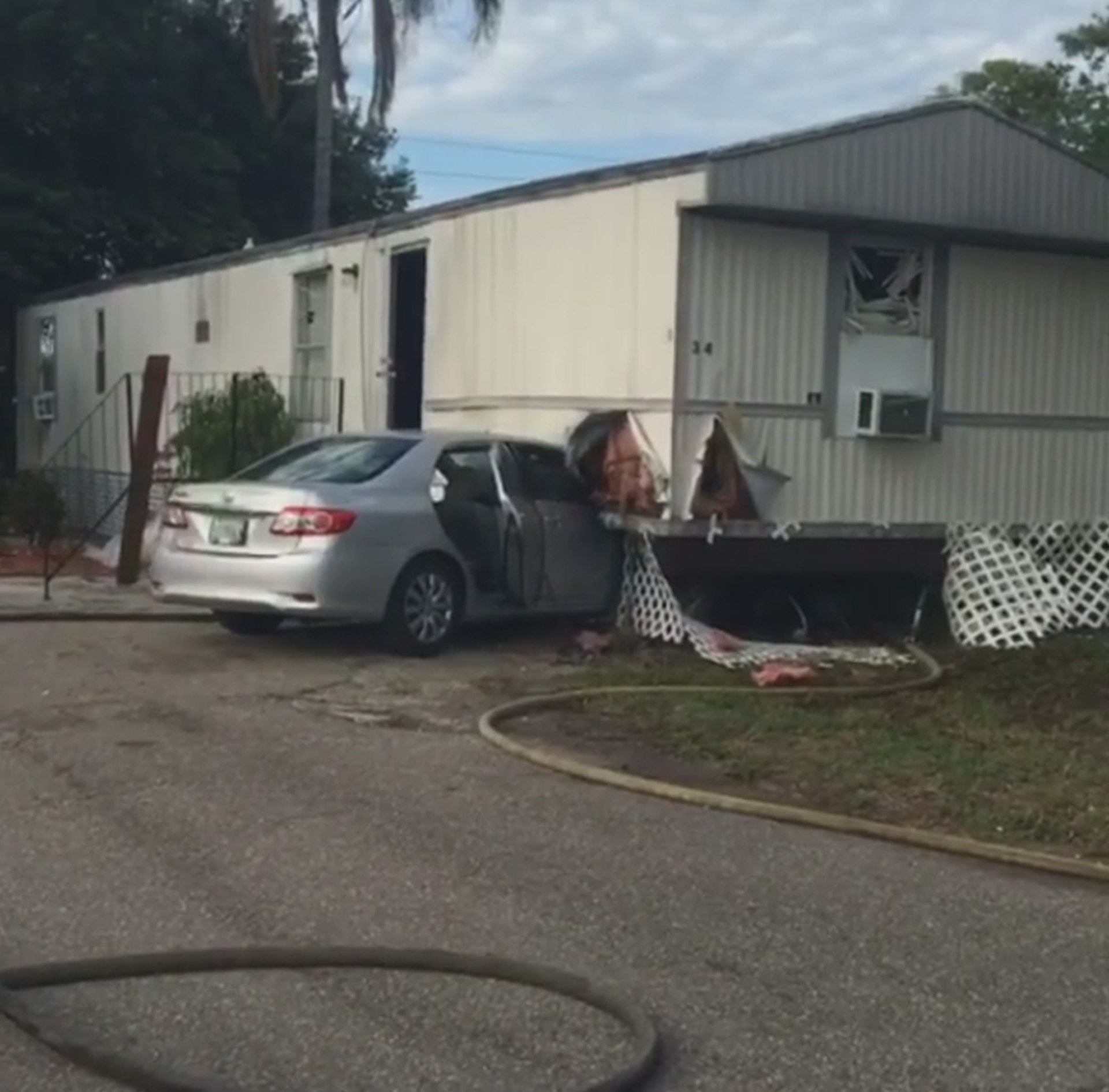 Stolen Car Crashes Into Mobile Home In Tampa
