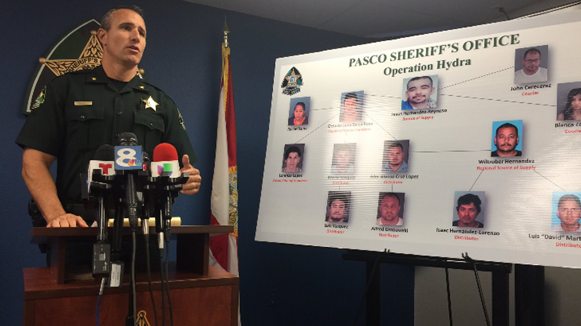 Pasco sheriff Major ring busted