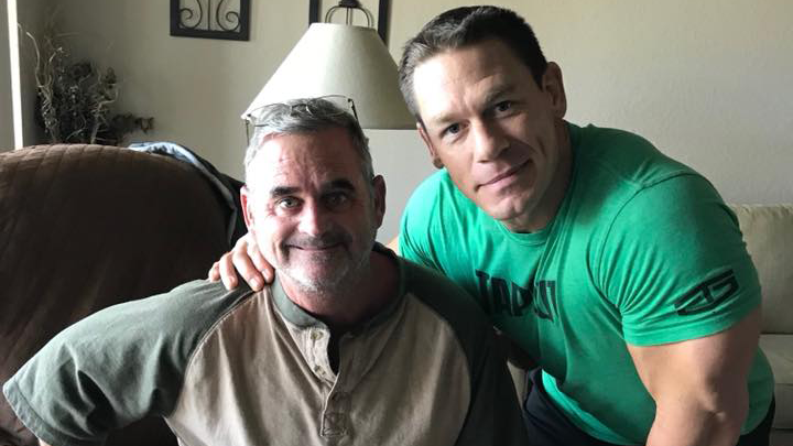 wwe star john cena visits man with kimberly frye. Black Bedroom Furniture Sets. Home Design Ideas