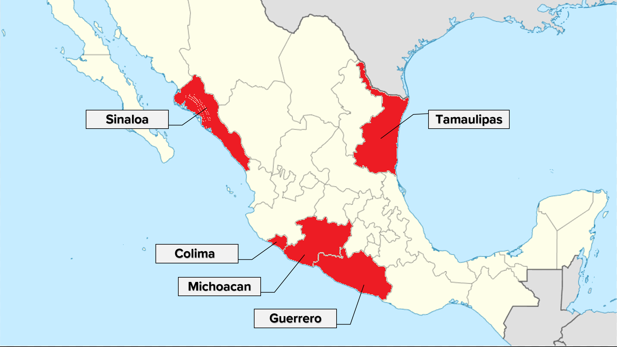 Wtsp Com 5 States In Mexico Get Highest U S Do Not